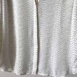 Joie Tops - Joie | Silk Snakeskin Print Button Down Blouse M